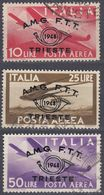TRIESTE ZONA A - 1948 - Posta Aerea, Serie Completa Usata Di 3 Valori: 12A/12C. - 7. Trieste