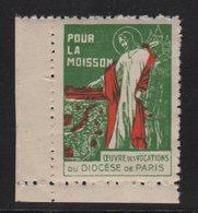 Vignette - Diocese De Paris - Pour La Moisson - Commemorative Labels
