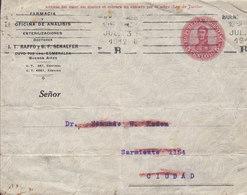 Argentina Postal Stationery Ganzsache Entier PRIVATE Print FARMACIA Doctores RAFFO & SCHAEFER, BUENOS AIRES 1912 CIUDAD - Enteros Postales