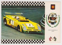1385/ J.Mª Juncadella (España / Spain). Chevron B 21/23-20. Grand Prix (1974). TERGAL - Non écrite. Unused. Non Scritta. - Grand Prix / F1