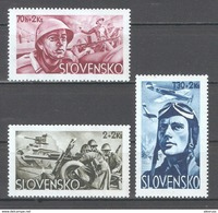 Slovakia 1943,WW-2 Soldier Relief,Sc B14-B16,VF Mint Hinged* (MB-6) - Unused Stamps