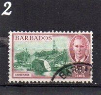 1950 GV1 Issue 60c Used - Barbados (...-1966)