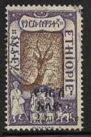 Ethiopia Scott # 136 Used Gazelle, With Colon,1921 - Ethiopia