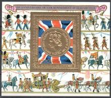 Comores Gold Sheet Mnh ** 1978 10 Euros - Crowning Anniversary Queen Elisabeth / Royals - Comoros