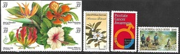 US    1999   Sc#3313a-16    33c Tropical Flowers Block, Bartrum, Cancer Awareness, Gold Rush  MNH  Face $2.31 - United States