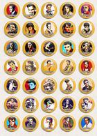 35 X Elvis Presley Music Fan ART BADGE BUTTON PIN SET 9 (1inch/25mm Diameter) - Music