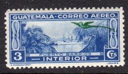 GUATEMALA - 1935 SHIP IN PUERTO BARRIOS 3c STAMP FINE MINT MM * SG299 - Guatemala