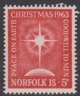 Norfolk Island ASC 52 1963 Christmas, Mint Hinged - Norfolk Island
