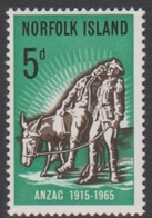 Norfolk Island ASC 60 1965 50th Anniversary Gallipoli Landing, Mint Hinged - Norfolk Island
