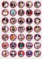 35 X Elvis Presley Music Fan ART BADGE BUTTON PIN SET 10 (1inch/25mm Diameter) - Music