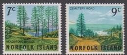 Norfolk Island ASC 74-75 1966 Scenes, Mint Never Hinged - Norfolk Island