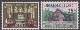 Norfolk Island ASC 76-77 1966 Melanesian Mission, Mint Never Hinged - Norfolk Island