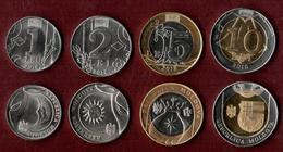 Moldova 2018 Set Of 4 Coins 1 Lei ; 2 Lei; 5 Lei And 10 Lei. UNC - Moldavië