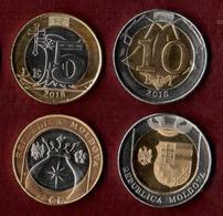 Moldova 2018 Set Of 2 Coins  5 Lei And 10 Lei. UNC - Moldavie