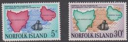 Norfolk Island ASC 103-104 1969 Van Diemens Land, Mint Never Hinged - Norfolk Island