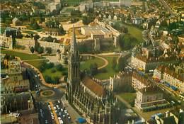 14  Caen - Vue Aérienne L' Eglise Saint Pierre Le Chateau  AQ 494 - Caen
