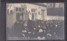 91 BRUYERES LE CHATEL CARTE PHOTO BENEDICTION SALLE PAROISSIALE PAR MGR EVEQUE DE VERSAILLES - Bruyeres Le Chatel