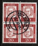 GERMANY  Scott # 829 VF USED BLOCK Of 4 (Stamp Scan # 459) - [7] Federal Republic