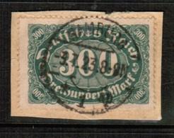 "GERMANY  Scott # 201 VF USED ""on Piece"" (Stamp Scan # 459) - Germany"