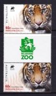 Australia 2012 Zoos 60c Sumatran Tiger Gutter Pair MNH - Ungebraucht