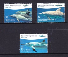 Cocos Islands 2016 Dolphins Set Of 3 Used - Cocos (Keeling) Islands