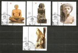 2011 ORDINE DI MALTA SMOM Arte Egizia  Serie Completa Usata FDC Bellissima - Sovrano Militare Ordine Di Malta