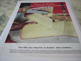 ANCIENNE PUBLICITE FROMAGE BONBEL DE NORMANDIE 1965 - Affiches