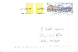Pornic + Beaujard  0,58 €   -   La Poste  04753A     29.11.10 - Storia Postale