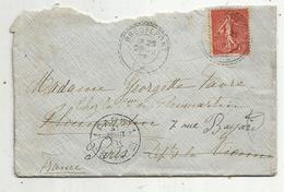 Lettre ,1907 , BREUILPONT , Eure ; PARIS 1 ,3 Scans - 1877-1920: Période Semi Moderne