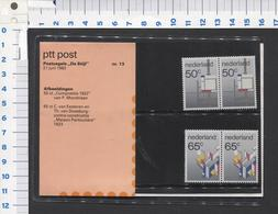 PTT Post , De Stijl - Mapje 13 ( 2 )  - NOT Used - See The 2 Scans For Condition( Originaal) - 1980-... (Beatrix)