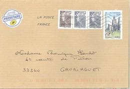 Aulnay +  Beaujard   1,05 €   -   La Poste   09883     26.08.13     2èm échelon - Storia Postale
