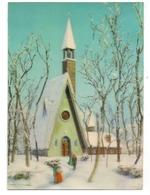 3D - CHURCH IN WINTER - TOPPAN - Ansichtskarten