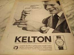 ANCIENNE PUBLICITE MONTRE KELTON 1965 - Autres