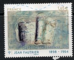 2014 :JEAN FAUTRIER 1898 - 1964 Valeur Faciale 1,65 € Timbre Oblitéré De France . Les Boîtes De Conserve, 1947 - France