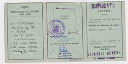 Carte De Prisonnier De Guerre 40/45 Maurice Pirenne Herve - Cartes