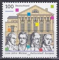 Deutschland Germany BRD 1999 Geschichte History Goethe Schiller Weimar Architektur Bauwerke Buildings, Mi. 2028 ** - [7] République Fédérale