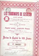 Les Tramways De Szegedin - 1907 - Chemin De Fer & Tramway