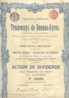 Tramways De Buenos - Ayres  -  1907 - Chemin De Fer & Tramway
