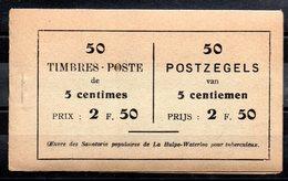 Belgique - Carnet COB A13d (a) - 1914 - Markenheftchen 1907-1941
