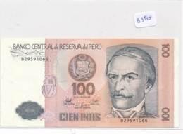 Numismatique -B3540- Pérou - 100 Intis  -( Catégorie,  Nature état ... Se Référer Au Double Scan) - Pérou