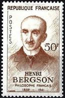France 1959 - Mi 1267 - YT 1225 ( Henri Bergson, Writer ) MH* - Neufs
