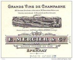 MERCIER   Grands Vins De Champagne   EPERNAY  51          1910 - Bills Of Exchange
