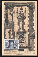 FDC 1952 - 929 LEONARD DE VINCI - Carte Postale - FDC