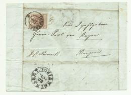 FRANCOBOLLO DA 6 KREUZER INNSBRUCK 1853    SU FRONTESPIZIO - 1850-1918 Keizerrijk