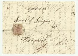 FRANCOBOLLO  DA 6 KREUZER LIENZ  1852  SU FRONTESPIZIO - 1850-1918 Imperium