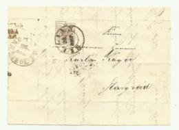FRANCOBOLLO  DA  6  KREUZER SILLIAN  1855  SU FRONTESPIZIO - 1850-1918 Impero