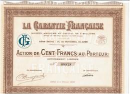 69-GARANTIE FRANCAISE. 31 Rue Ferrandière à LYON - Hist. Wertpapiere - Nonvaleurs