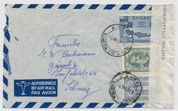 05. Aug 1950- Flugpost Brief Von Athen Griechenland Nach Zürich Schweiz - Zoll - Controle Du Change - Poste Aérienne