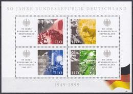 Deutschland Germany BRD 1999 Geschichte History Bundesrepublik Federal Republic Parlament Mauer Wall, Bl. 50 ** - BRD
