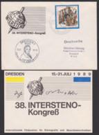 Gabelsberger Franz Xaver Intrsteno-Kongress Dresden Stenographie Drs. 20.7.89, 200 Jahre Französische Revolution - DDR